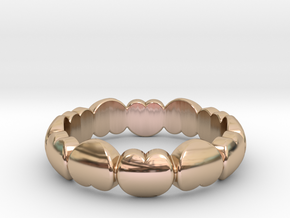 Ring Of Love  in 14k Rose Gold Plated Brass: 6 / 51.5