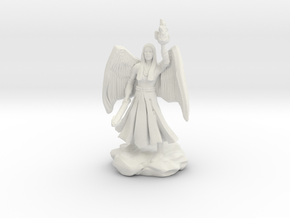 Female Aasimar Cleric With Mace in White Strong & Flexible