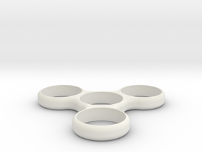 Simple Spinner in White Natural Versatile Plastic