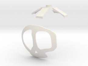 Ziggs Bomb Ø150mm  in White Natural Versatile Plastic