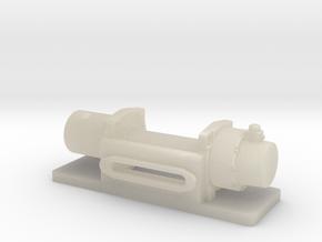 WARN M8000 Winch 1/24 scale in White Acrylic