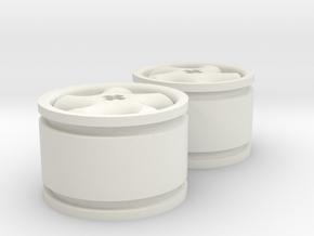 5-spoke rims 30mmØ model1 in White Natural Versatile Plastic