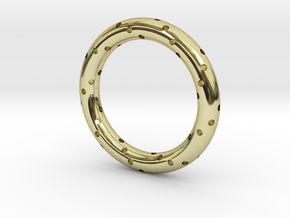 Spiral Ring in 18k Gold Plated Brass: 6 / 51.5