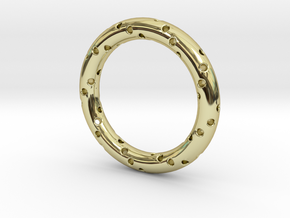 Spiral Ring №2 in 18k Gold Plated Brass: 6 / 51.5