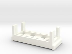 Gate Valve Jig in White Processed Versatile Plastic