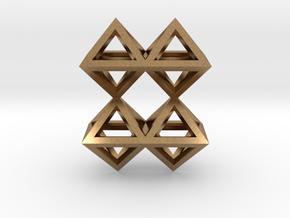 8 Pendant. Perfect Pyramid Structure. in Natural Brass