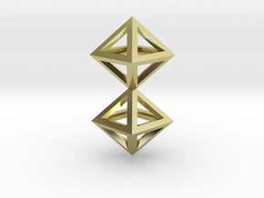 S4 Pendant. Perfect Pyramid Structure. in 18k Gold Plated Brass