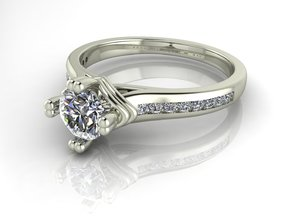 Classic Solitaire 6 NO STONES SUPPLIED in Fine Detail Polished Silver