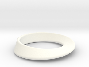 Moebius Strip pendant in White Processed Versatile Plastic
