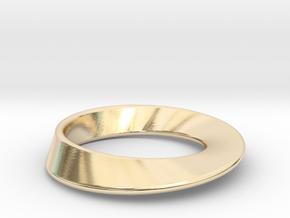 Moebius Strip pendant in 14K Yellow Gold