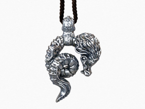 The Dreamy Dragon Pendant in Polished Silver