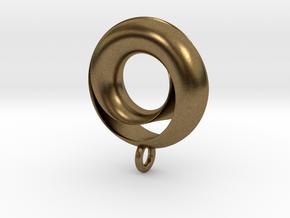Negative Möbius Pendant in Natural Bronze