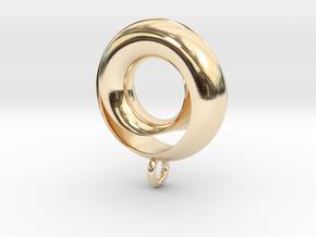 Negative Möbius Pendant in 14k Gold Plated Brass