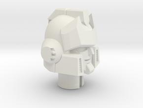 Signal Processor's Head in White Natural Versatile Plastic