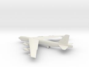 Boeing B-52 Stratofortress in White Natural Versatile Plastic: 1:285 - 6mm