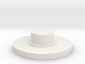 Caps in White Natural Versatile Plastic