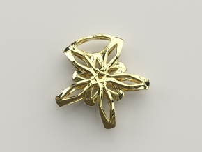 Star Flower Pendant in 18k Gold Plated Brass