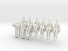 12x Seated person, scale 1:43 in White Strong & Flexible