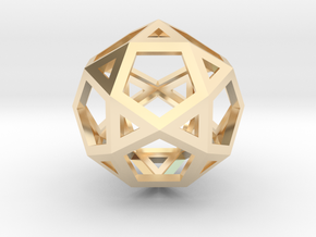 IcosiDodecahedron in 14K Yellow Gold