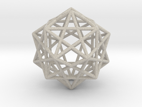 Star Faced Dodecahedron in Natural Sandstone