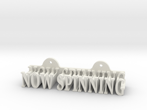 Now Spinning - Vinyl sleeve wall mount in White Strong & Flexible