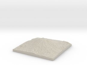 Model of 1980 Crater in Natural Sandstone