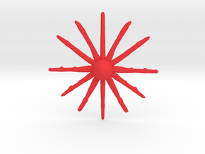 Time Star in Red Processed Versatile Plastic