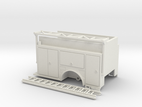 1-87 KME CamdenEngine body w/ Ladder Rack in White Natural Versatile Plastic