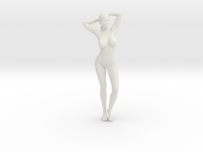 Long Ponytail Girl-010 in White Strong & Flexible