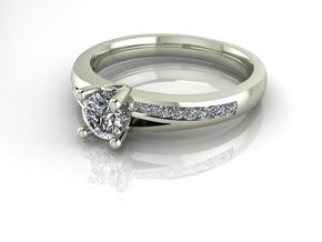 Classic Solitaire 8 NO STONES SUPPLIED in Fine Detail Polished Silver