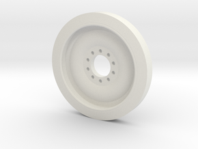 1/30 scale M113 Spare Wheel in White Strong & Flexible