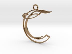 Corelia Pendant in Natural Brass