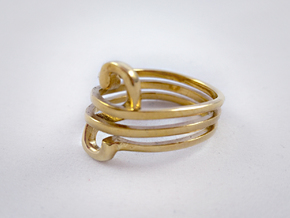 Infinity Loop Ring in Polished Brass: 8 / 56.75