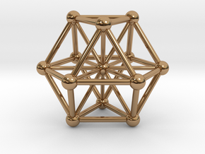 UNIVERSO VE with twelve rays in Polished Brass