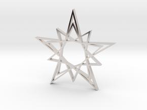 Arabesque: Solar Star in Rhodium Plated Brass