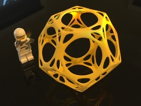 Dodecahedron Porthole Wireframe in Yellow Strong & Flexible Polished