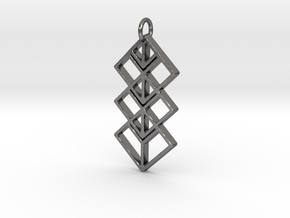 Space Pendant  in Polished Nickel Steel