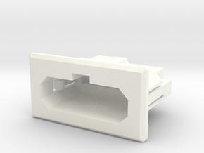NES Front Loader NESRGB SNES Style Multiout Socket in White Processed Versatile Plastic