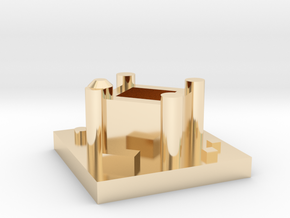 Game of Thrones Risk: Seat of Power Piece in 14k Gold Plated Brass