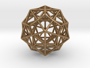 Stellated IcosiDodecahedron in Natural Brass