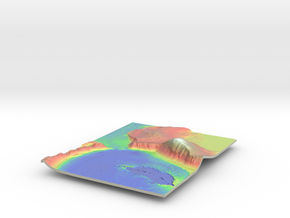 Mars Map: Lava Vent - Vivid in Glossy Full Color Sandstone