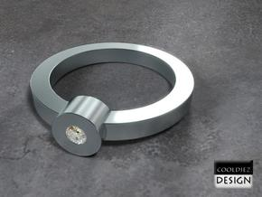 Ring - 1Tube in Polished Bronzed Silver Steel