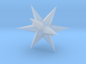 Star - Stellated Dodecahedron in Smooth Fine Detail Plastic: Small
