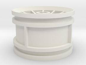 12-spoke rim 30mmØ model1 in White Natural Versatile Plastic
