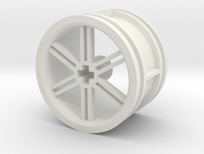 12-spoke rim 30mmØ model2 in White Natural Versatile Plastic