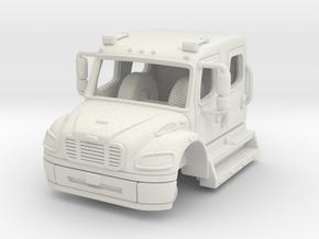 1/87 Freightliner Crew Cab in White Natural Versatile Plastic