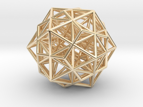 """Super Stellated IcosiDodecahedron 1.4"""" in 14K Yellow Gold"""