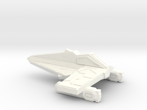 Thorlian Y-5 War Cruiser in White Strong & Flexible Polished