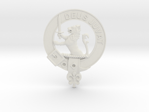 Large Clan MacDuff plaque in White Natural Versatile Plastic