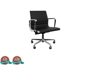 Miniature Eames Aluminium Group Management Chair in Frosted Ultra Detail: 1:24